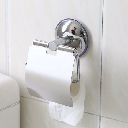 1pc Stainless Steel Bathroom Toilet Wall Mounted Suction Paper Roll Holder Tissue Rack New