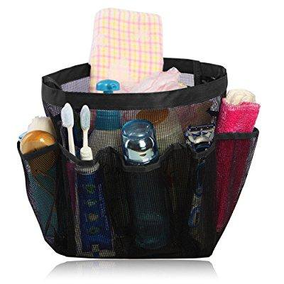 Quick Dry Hanging Toiletry And Bath Organizer With 8 Storage Compartments Shower Tote