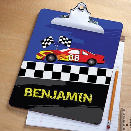 Personalized Race Car Clipboard