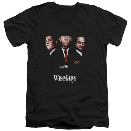 Three Stooges Slapstick Famous Comedy Group Wiseguys Adult V-Neck T-Shirt Tee