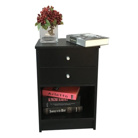 Ktaxon Nightstand End Table Bedroom Furniture 1 Drawer Shelf Bedside Cabinets Coffee