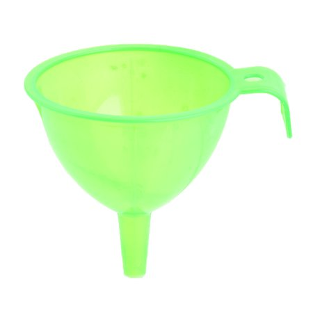 kitchen plastic oil water sauce liquid transfer strainer filter funnel green - Kitchen Funnel