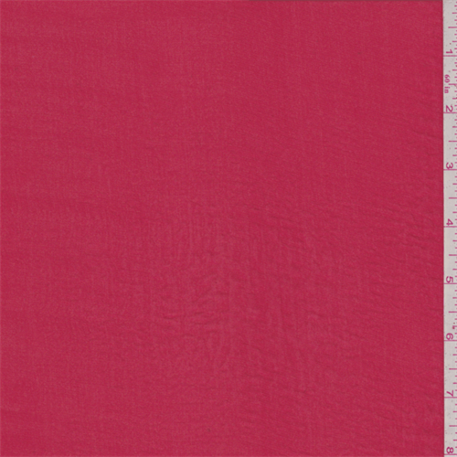 Bright Red Polyester Lawn, Fabric By the Yard