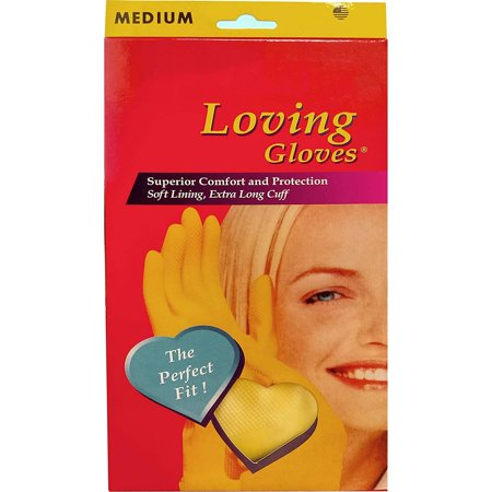 Premium Yellow Latex Household Kitchen Cleaning Dish Washing Rubber Gloves (Medium)