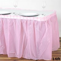 "BalsaCircle 14 feet x 29"" Plastic Table Skirt"