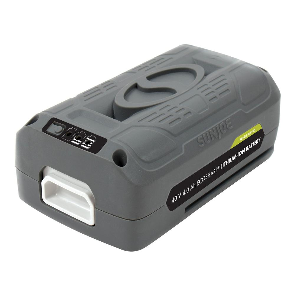 Snow Joe + Sun Joe iBAT40 EcoSharp® Lithium-Ion Battery | 40 Volt · 4.0 Ah