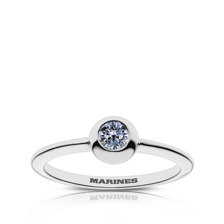 US Marines Sapphire Ring In Sterling Silver Design by BIXLER