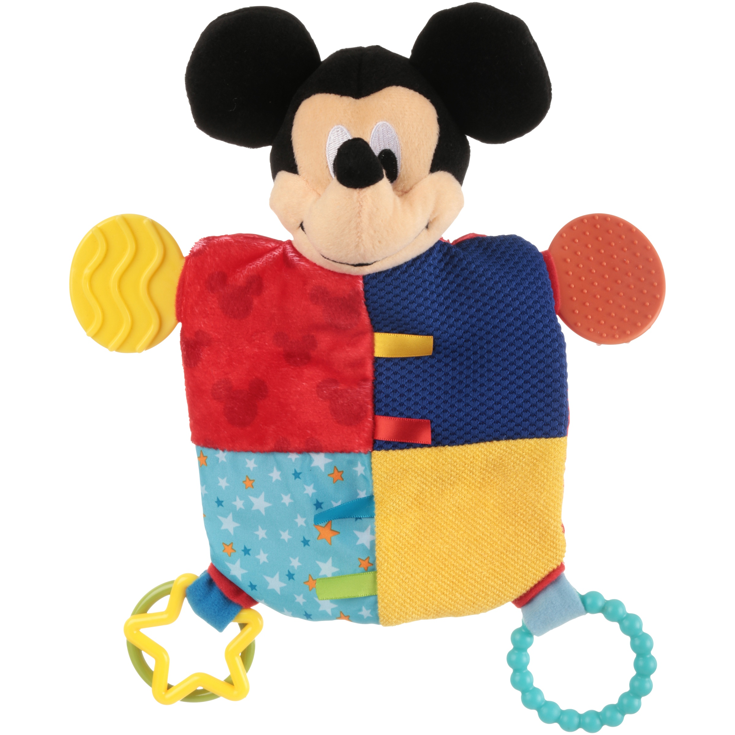 Disney Baby Mickey Mouse Flat Blanky Teether