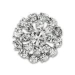 Expo Int'l 19mm Round Floral Burst Rhinestone Button