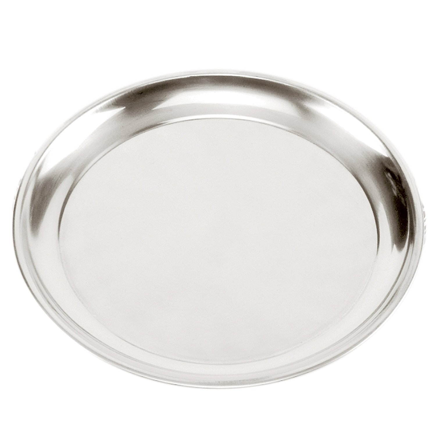 5672 Stainless Steel Pizza Pan, 13.5-Inch, Ss Heavy steel mirror Set Cake 2Pack Gauge 155 Made of Round... by