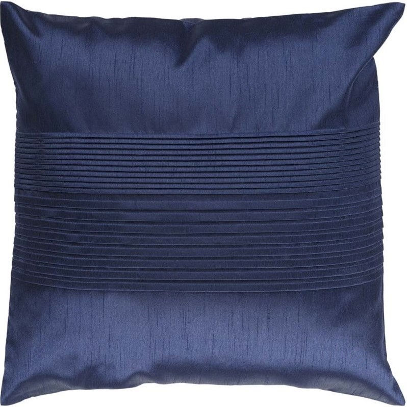 Surya  HH-029  Pillows  Solid Pleated  Home Decor  ;18 x 18 Down Filler