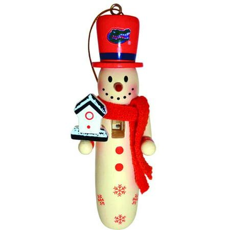 (6 NCAA University of Florida Gators Wooden Snowman Christmas Ornaments 6