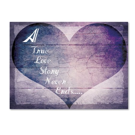 Trademark Fine Art 'A True Love Story Never Ends' Canvas Art by LightBoxJournal - A True Love Story Never Ends