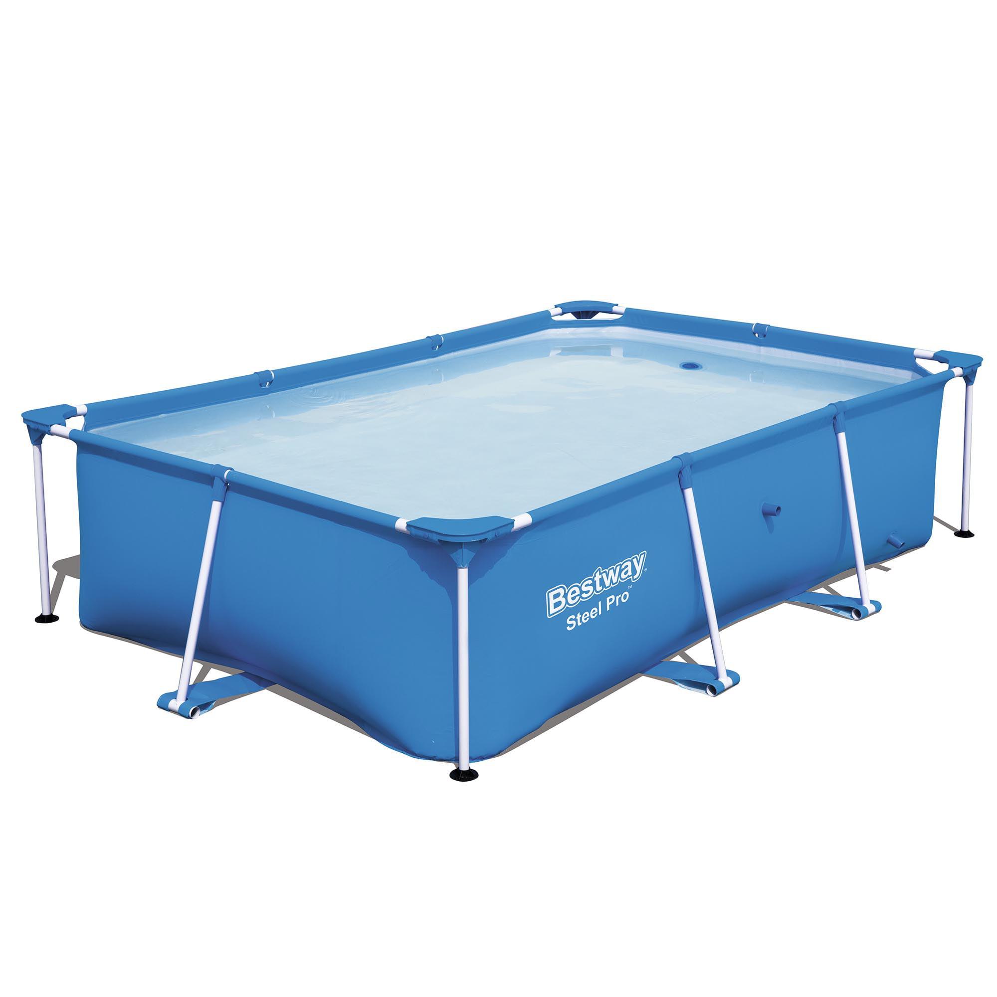 "Bestway Steel Pro 102 x 67 x 24"" Rectangular Frame Above Ground Swimming Pool"
