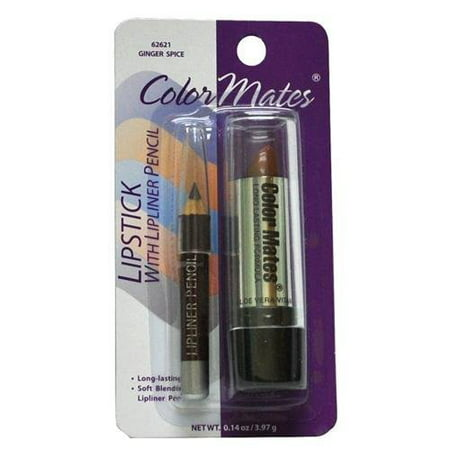 Color Mates Lipstick With Lipliner Pencil  62621 Ginger Spice