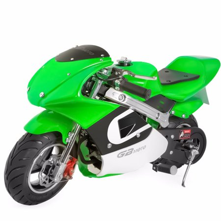 4-Stroke 40CC Gas Pocket Bike for Kids (Green), No CA Sales ()