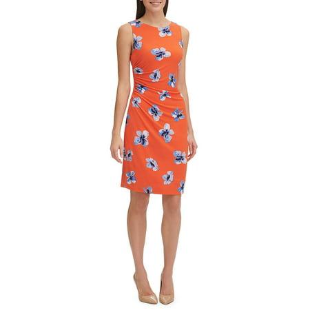 Carole Hochman Floral Jersey - Scholar Floral Jersey Sheath Dress
