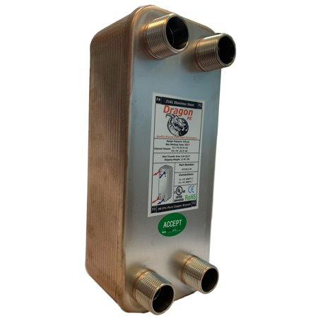 - 30 Brazed Plate Heat Exchanger, 60,000 BTU