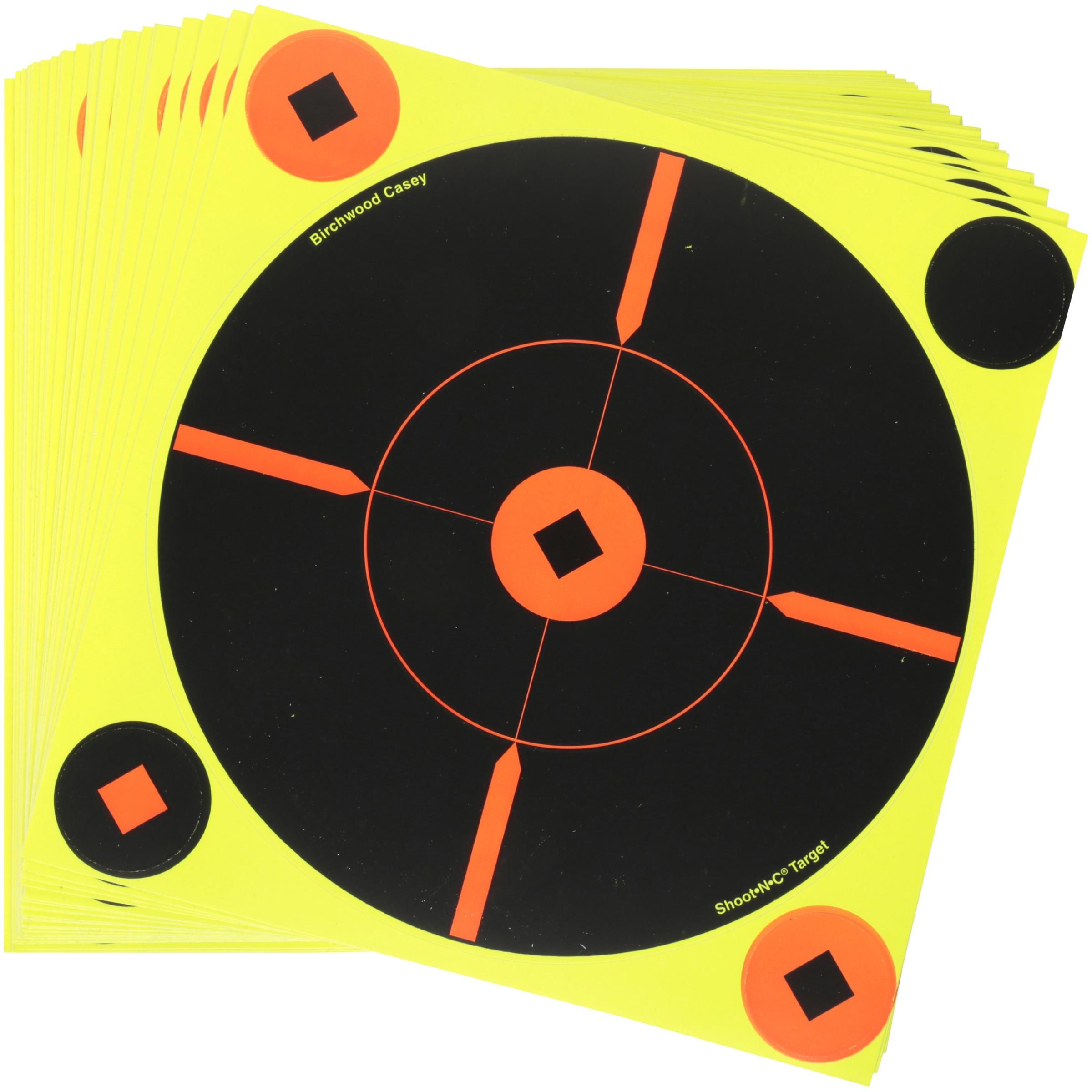 """Shoot•N•C® 8"""" Crosshair Bull's-eye Target - 50 targets"""
