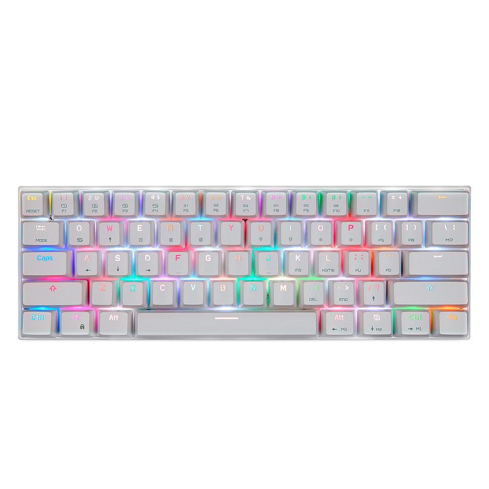 CK62 BT3.0 Wired Mechanical Keyboard for Tablet Laptop Smartphone White