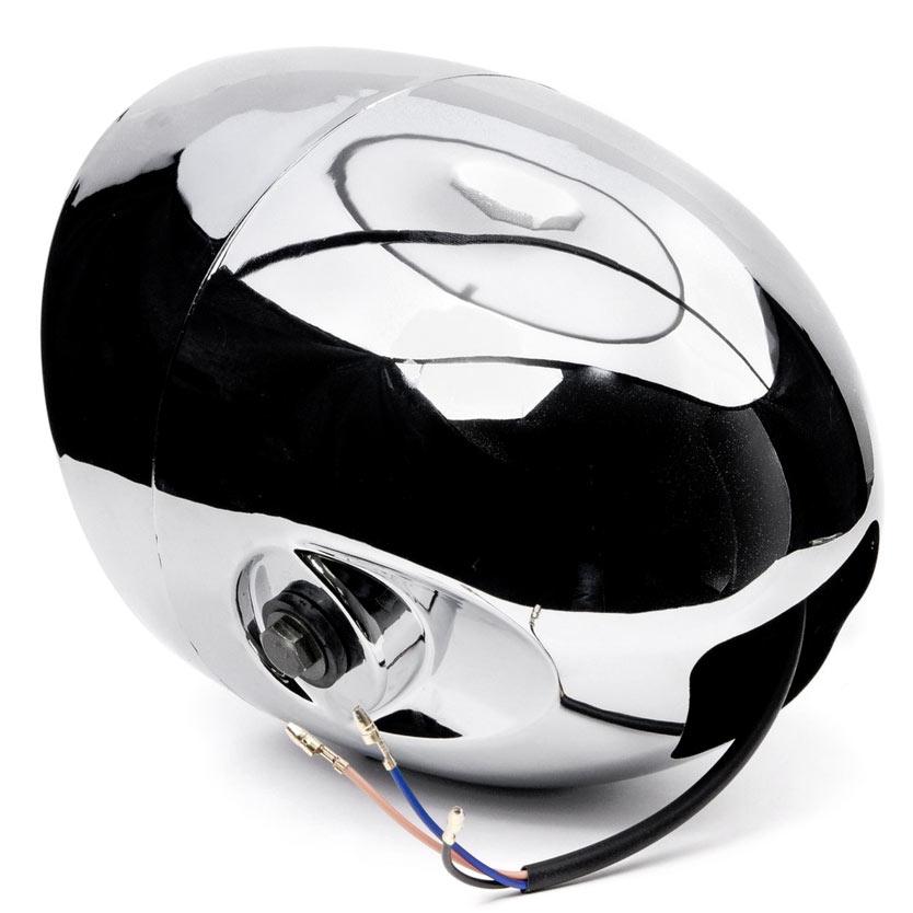 """Krator 7"""" Chrome LED Motorcycle Headlight w/ Side Mounting Running Light High / Lo Beam for Harley Davidson XL 883 Hugger Sportster - image 3 de 5"""