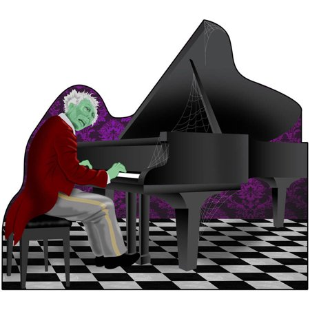 Haunted Hotel Grand Piano Standee Halloween Decoration - Haunted History Halloween