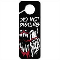 WWE Finn Balor Demon Unleashed Plastic Door Knob Hanger Sign