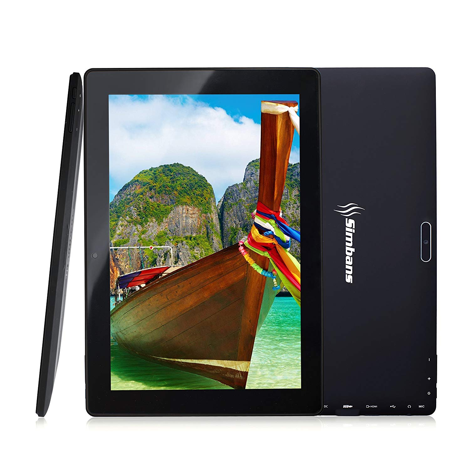 Simbans TangoTab 10 Inch Tablet | 2GB RAM, 32GB Disk, Android 7.0 Nougat | New 2018 Model | GPS, WiFi, USB, HDMI, Bluetooth | IPS screen, Quad Core CPU, 2+5 MP Camera Computer PC