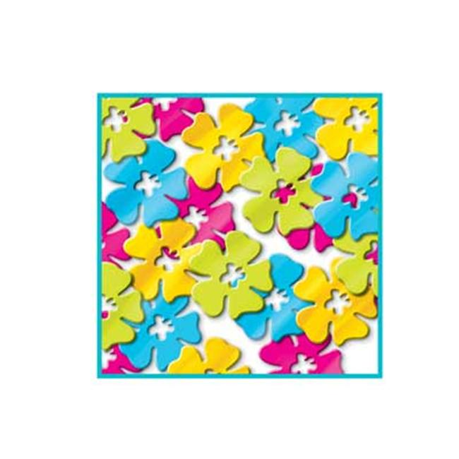 Beistle 57804 Fanci-Fetti Hibiscus Flowers - Pack of 12