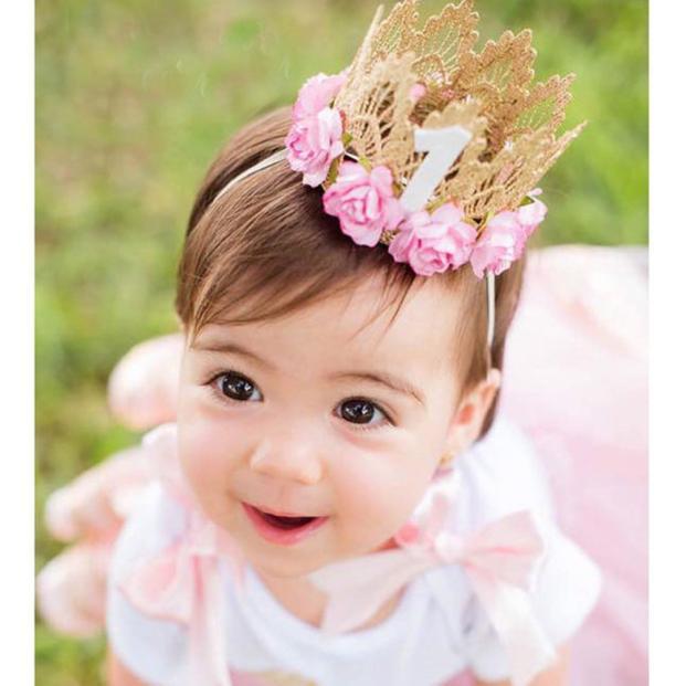 Fashion Girl Head Accessories Hairband Baby Elastic Flower Crown Lace Headwear