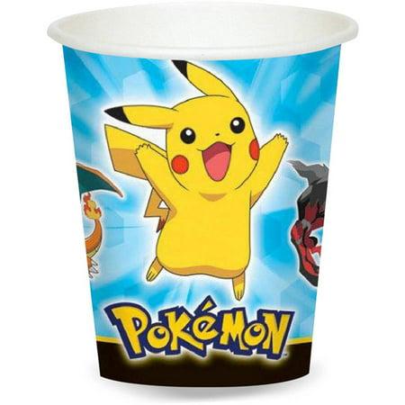 Pokemon 9 oz Paper Cups - Pokemon Party Supplies