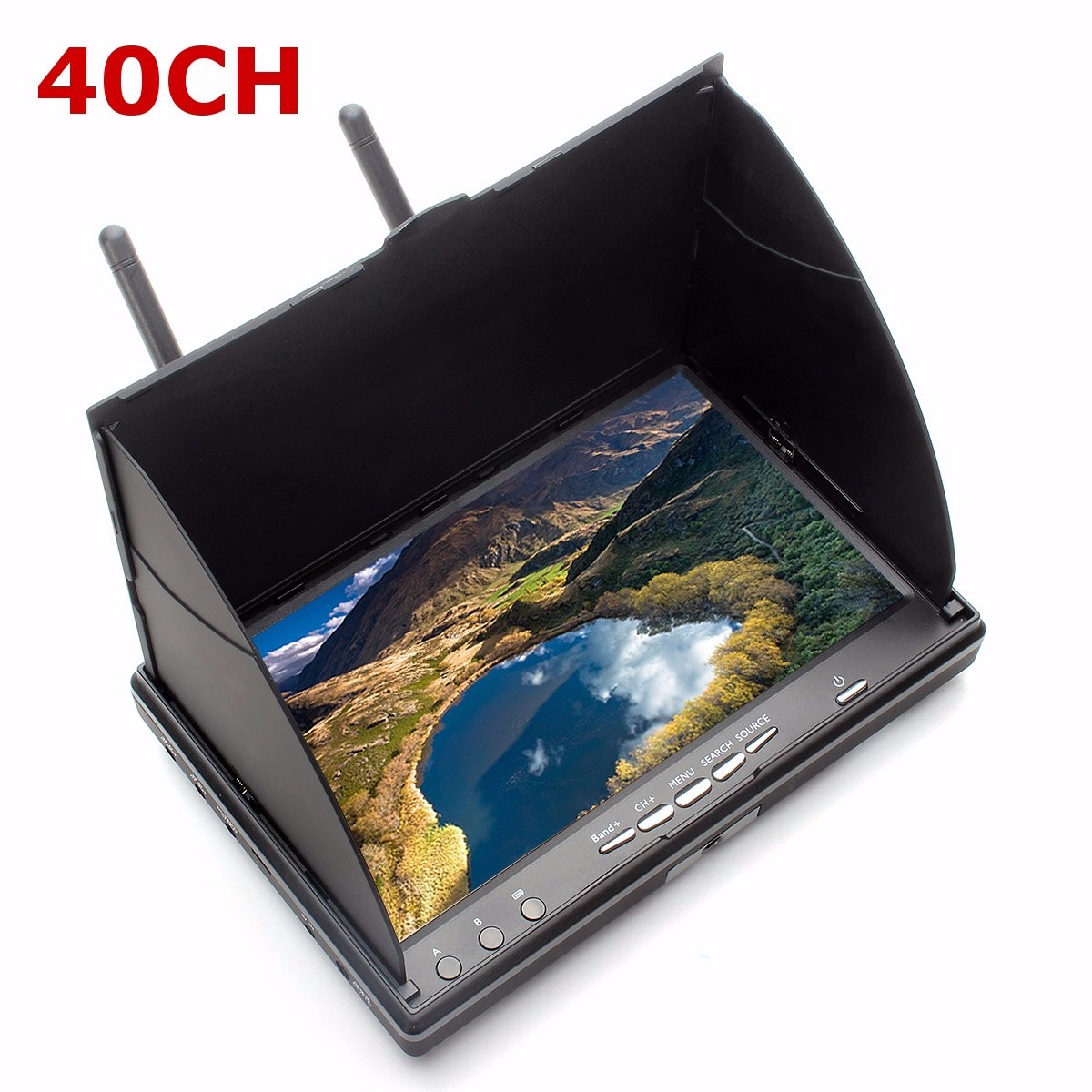 Eachine LCD5802S 5802 40CH Raceband 5.8G 7 Inch Diversity Receiver Monitor with Build-in