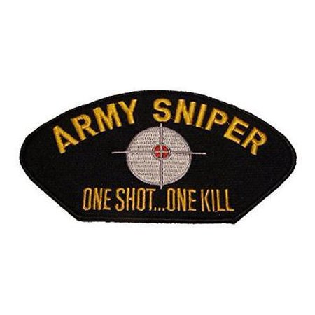 US ARMY SNIPER ONE SHOT ONE KILL PATCH SIGHTS TARGET CROSS HAIRS SHOOT TO