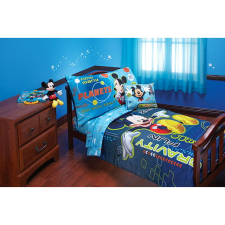 Disney Mickey Zero Gravity 4-Piece Toddler Bedding Set (Mini Mouse Bed Set)