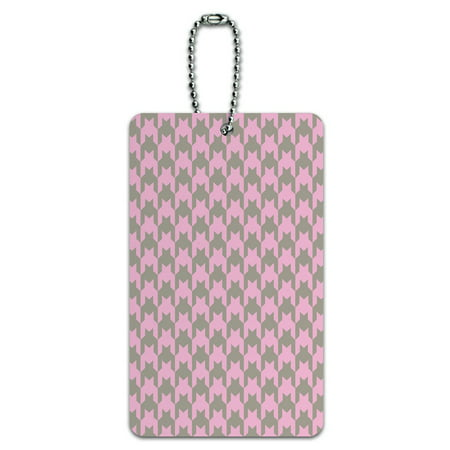 Graphics and More Preppy Houndstooth Pink Gray ID Card Luggage (Preppy Brands Uk)