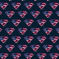 Superman USA American Flag Shield Logo Premium Roll Gift Wrap Wrapping Paper