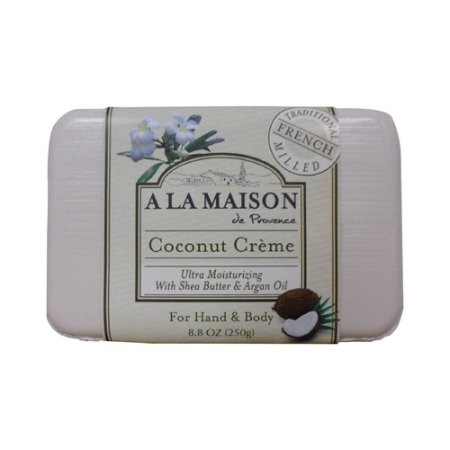A La Maison Bar Soap, Coconut Cr?me, 8.8 Oz