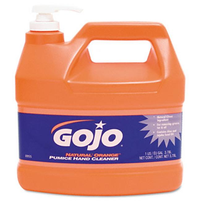 Gojo 095504CT Natural Orange Pumice Hand Cleaner  Unscented Liquid  1gal Pump  Four/ctn