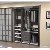 "Cielo by Deluxe 59"" Reach-in Closet in Bark Gray and White"