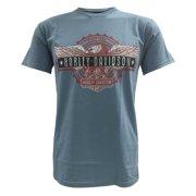 Men's Short Sleeve T-Shirt, Patriotic Eagle Bar Graphic, Blue
