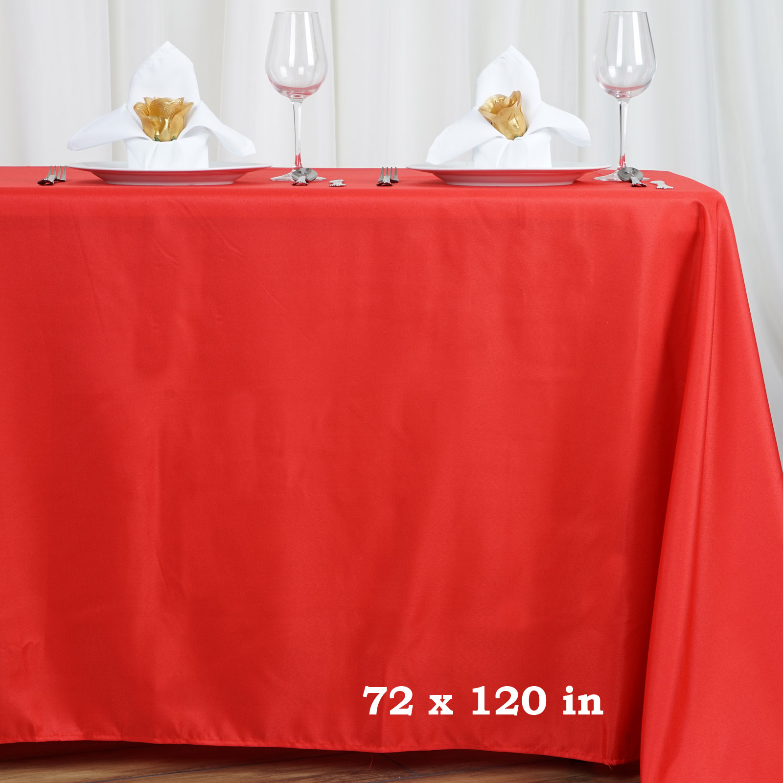 "BalsaCircle 72x120"" Polyester RECTANGULAR Tablecloth Table Linens by"