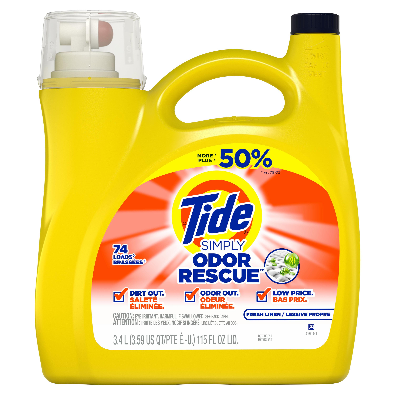 Tide Simply Odor Defense Laundry Detergents - 115 fl oz