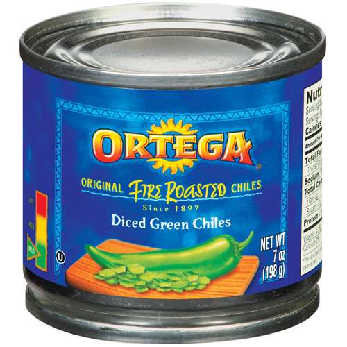 Ortega Fire Roasted Diced Mild Green Chiles, 7 oz