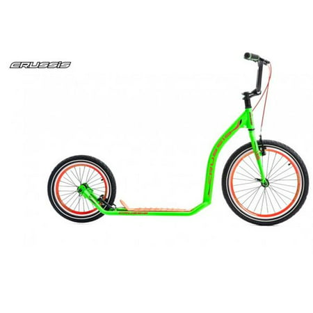 Crussis Active 4.3 6 ft. 5 in. Adult Sport Kick Scooter - Green