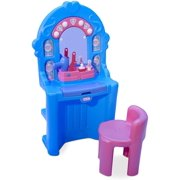 Little Tikes Ice Princess Magic Mirror - Roleplay Vanity with LightsSounds & Pretend Beauty Accessories, Multicolor