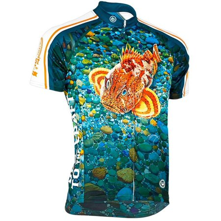 canari cyclewear men's ballast point sculpin short sleeve cycling jersey - 12293 (multi - xxl)