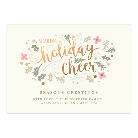 Personalized Holiday Photo Card - Holiday Cheer