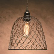 Metal Chickenwire Dome Lampshade 10