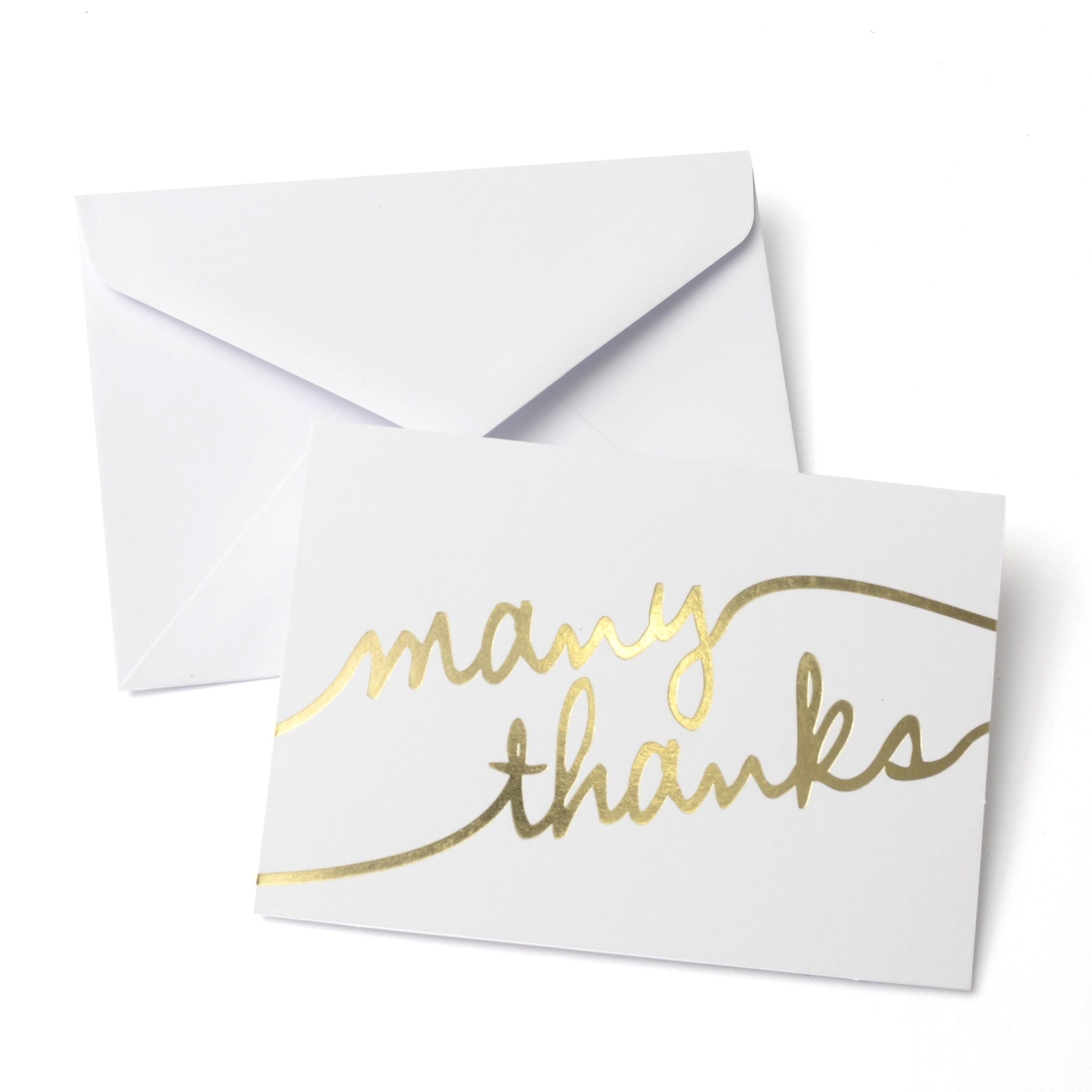 Gartner Studios Gold Foil Many Thanks Thank You Cards Case Of 50
