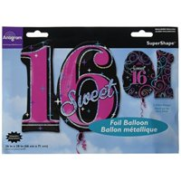 "Burton & Burton 28"" Sweet 16 Sparkle Balloon"